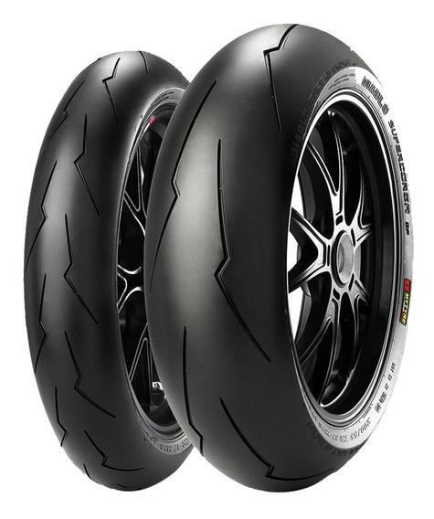 Par Pneu 190/50r17 + 120/70r17 Diablo Supercorsa V2 Pirelli
