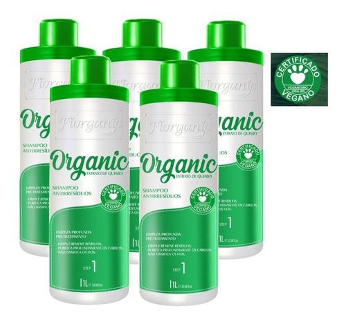 Imagem 1 de 2 de Shampoo Antirresíduo Quiabo E Argan 1 L - 05 Unidades