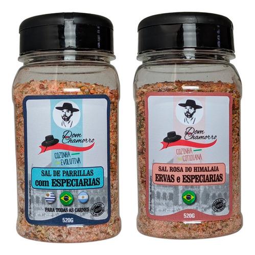 Imagem 1 de 5 de Kit Sal Parrilla Especiarias Sal Rosa/himalaia Dom Chamorro
