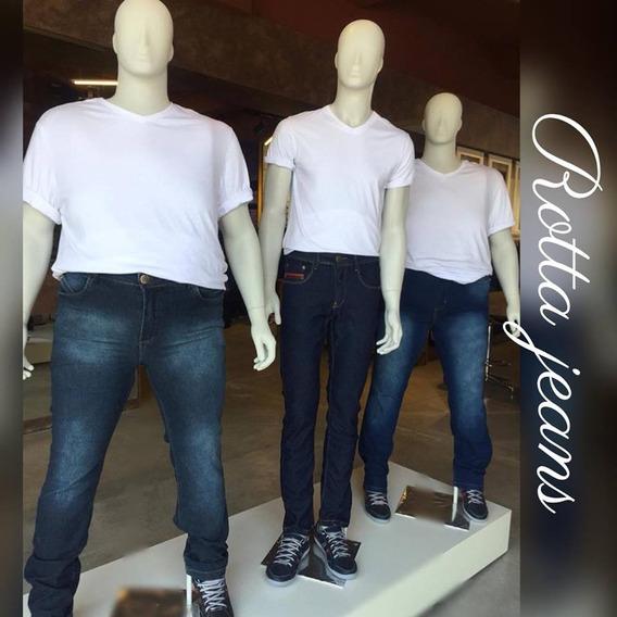 Calça Jeans Masculina C/lycra + 46/48/52/54