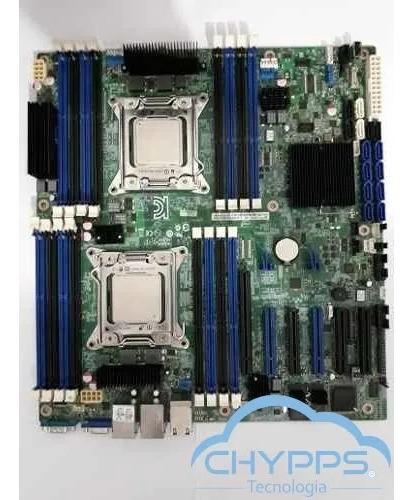 Placa Mãe Intel S2600cp Dual Xeon E5-2670v2 Deca 128gb Ram