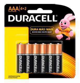 Pilas Duracell Aaa Blister X 6 Unidades
