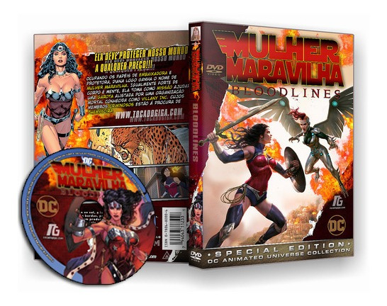 Mulher Maravilha - Linhagem De Sangue - Bloodlines 2019 Dvd