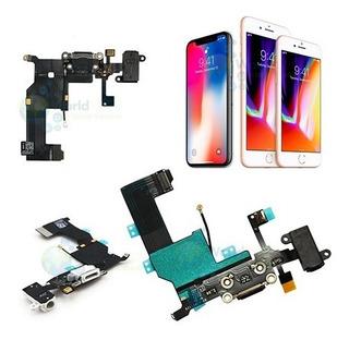 Flex De Carga iPhone 4 4s 5 5s 5c Se 6 6s Plus 7 + 8 Auricul