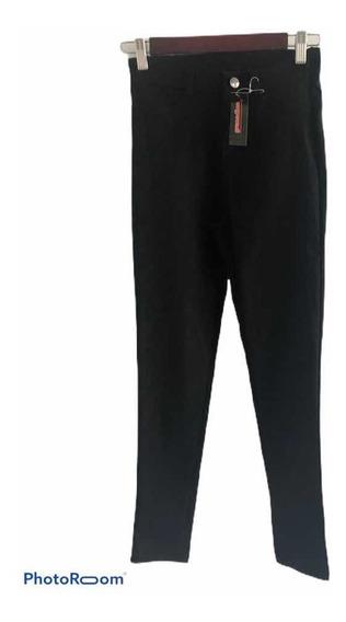 Pantalón De Bengalina Elastizado Tiro Medio Alto.