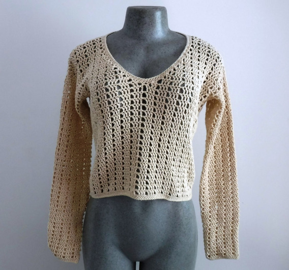 Suéter Tejido Crochet Diseño Calado
