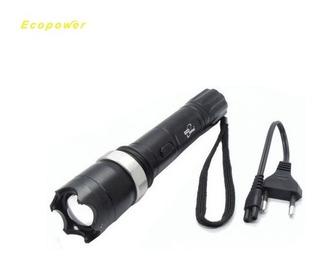 Lanterna Led Tática De Choque 5.000w - Preto