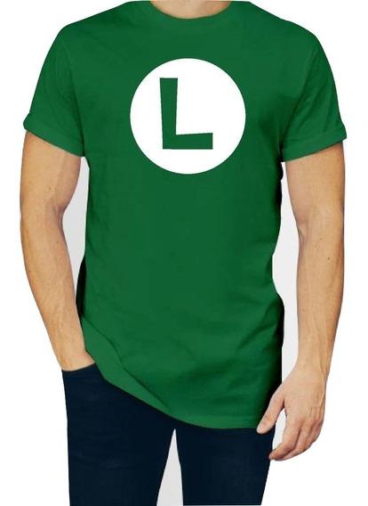 Playera Luigi Super Mario Hombre Caballero Con Envio P