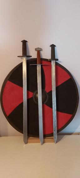 Espada Medieval Artesanal Modelos Vikingo Normando Cruzado