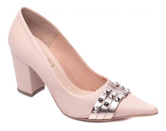 Sapato Scarpin Feminino Salto Bloco De Luxo Casamento