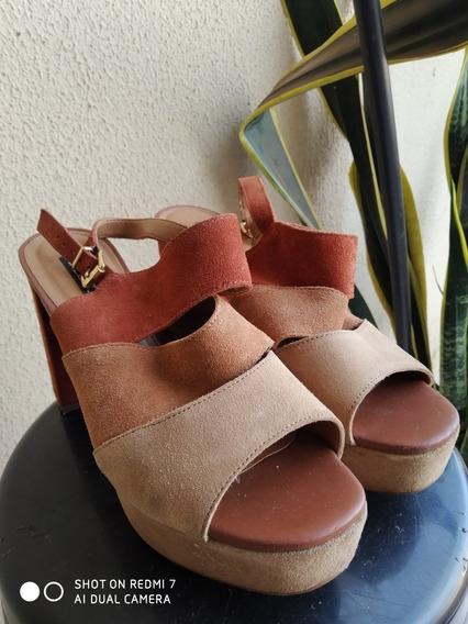 Sapato Salto Alto De Veludo - Arezzo