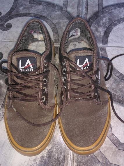 Zapatillas De Hombre, Usadas, Talle 41, Marrón L.a. Gear.