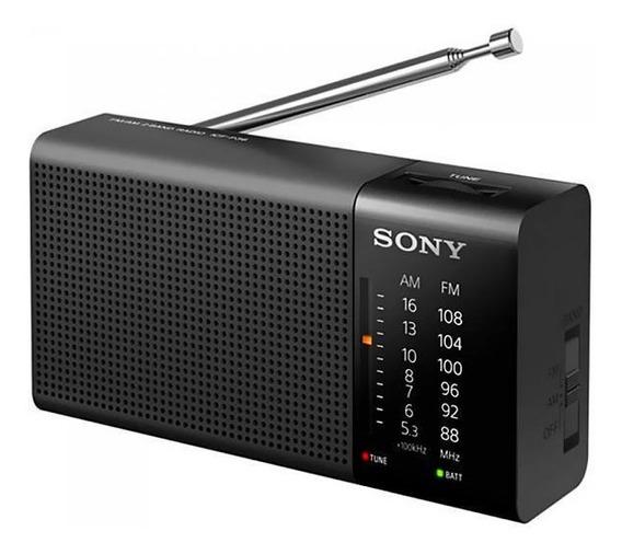 Rádio Portátil Fm Am Sony Icf-p36 100 Mw - Preto - Original