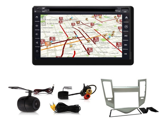 Central Multimidia Tv Gps Cruze 11/14 +câm+moldura+brinde