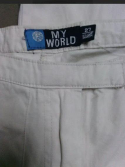 Pantalon Dama Talla 27 Beige