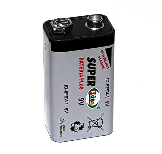 Caixa 12 Bateria 9v Tipo Duracell Super Plus Dura Muito Mais