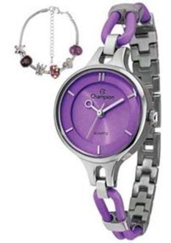 Relógio Champion Ca28387i Roxo Original + Pulseira Novo