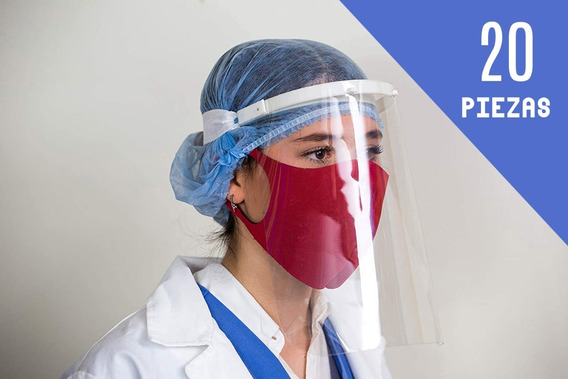 Protector Careta Facial Cubreboca 3d Re-utilizable 20 Piezas