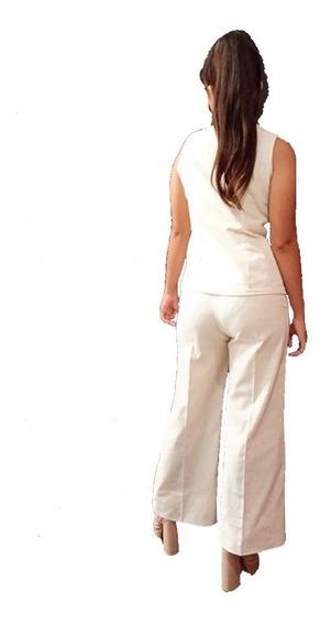 Pantalón De Lino Para Dama, 2 Colores Marca Domménico