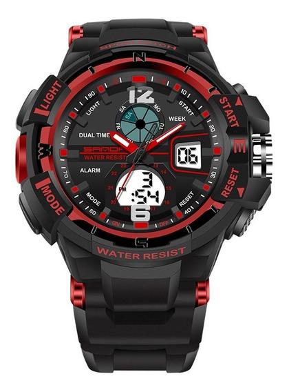Sanda 289 Waterproof Sports Watch Unisex Relógio De Pulso M