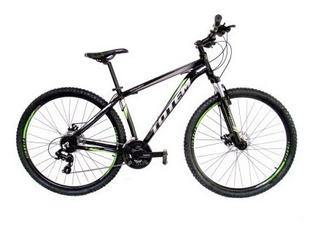 Mountain Bike Aro 29 Totem 24v Preto Cinza C/ Verde
