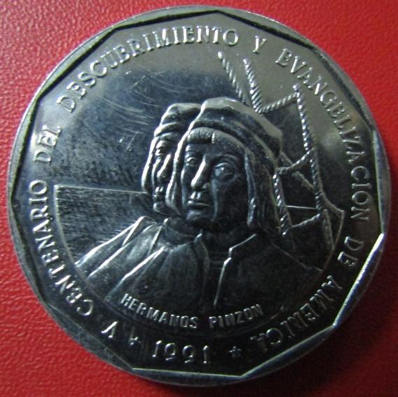 Republica Dominicana 1 Peso 1991 Unc Hermanos Pinzon