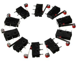 10 Micro Chave Fim De Curso Kw12 Endstop Switch Imp 3d E Cnc