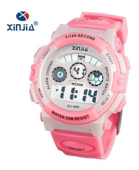 Relógios Infantil Xinjia Xj-869 Rosa Prova D