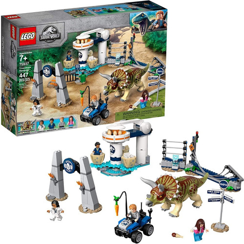 Lego Jurassic World 75937 Triceratops Rampage 447 Pzs