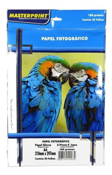 Papel Fotográfico Glossy Masterprint A4 120 Gramas 20 Folhas