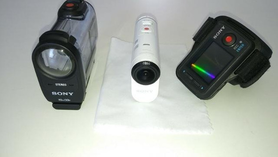 Câmera Sony Fdr-x1000v 4k Action Cam 64 Gb Semi Nova +action View Remote +brindes