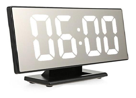 Relógio De Mesa Led Digital Alarme Despertador Espelho Cama