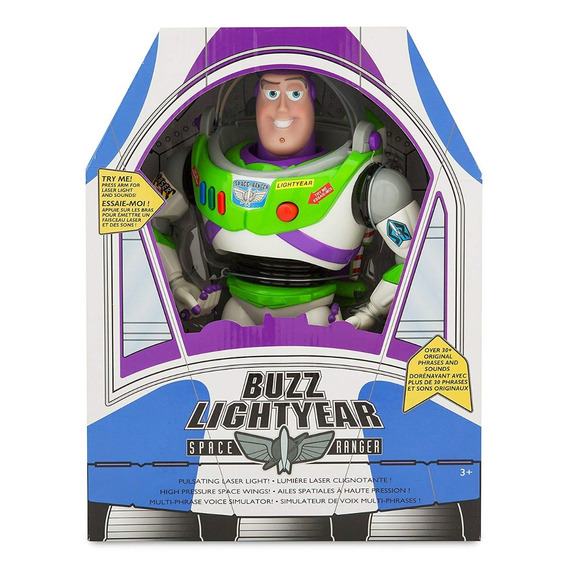 Buzz Lightyear Toy Story Disney Original Àudio Pronta Entreg