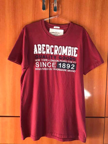 eeed5f2941 Camiseta Abercrombie Vinho - Camisetas e Blusas no Mercado Livre Brasil
