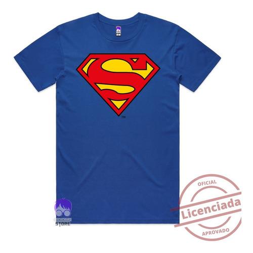 Camiseta Superman Super Homem Herois Algodão Camisa Geek