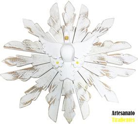Resplendor Divino Espirito Santo Branco 45cm