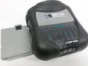 Impressora Térmica Portátil Zebra Rw420 Bluetooth + Bateria
