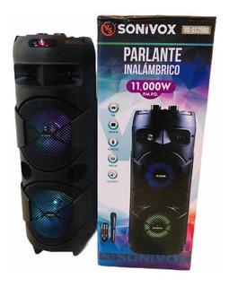Torre De Sonido Sonivox Inalámbrico Conexión Usb Micro Sd Fm