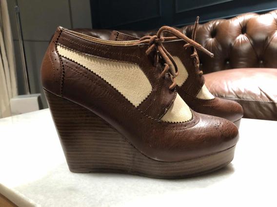 Zapatos Rafia Y Cuero Plataforma Forever 21
