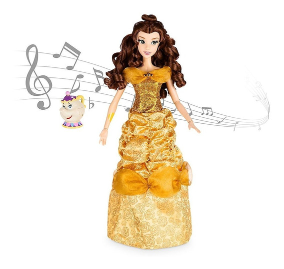 Bela Musical Singing 40 Cm Interativa Deluxe Disney Store