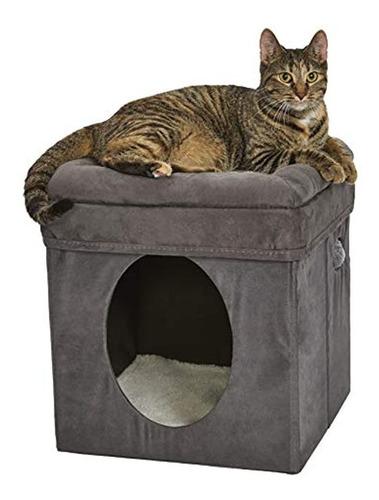 Imagen 1 de 5 de Cubo De Gato Curioso Del Medio Oeste, Casa De Gato / Condomi