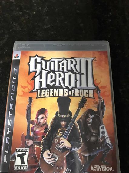 Jogo Ps3 Guitar Hero 3 Legends Of Rock Original Física
