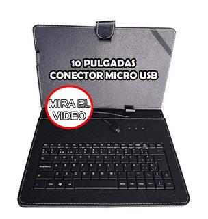 Funda Con Teclado Para Tablet Pc De 10 Pugadas Envio Stock