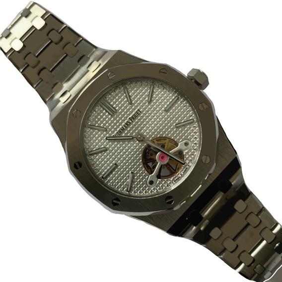 Reloj Audemars Piguet Royal Oak Tourbillon Plateado 456ap