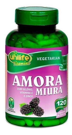 Amora Miura Com Vitaminas 120 Cápsulas Unilife