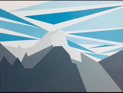 Imagen 1 de 3 de Cuadro Paisaje Abstracto, 60x80cm