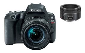 Câmera Sl2 Ef-s 18-55mm Is Stm + Lente Canon 50mm Ef