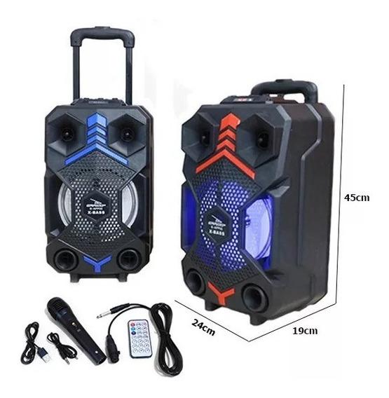 Caixa De Som Multiuso Bluetooth C/ Microfone