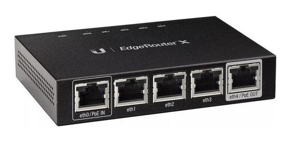 Roteador Ubiquiti Networks EdgeRouter EdgeRouter X ER-X preto