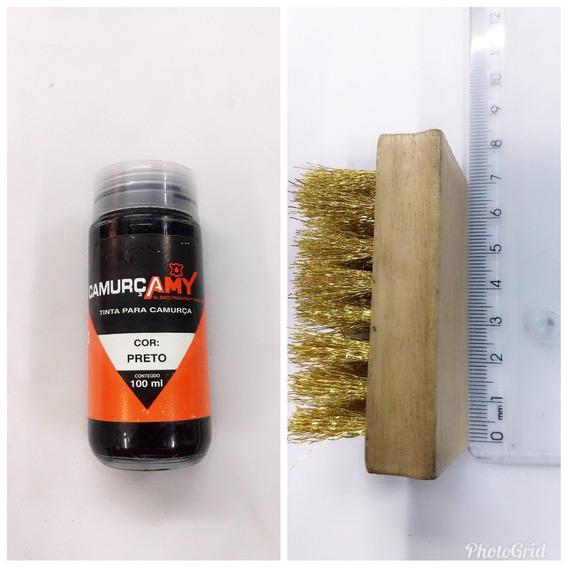 Tinta Para Camurça +escova Revivedora Dos Pelos Do Camurça